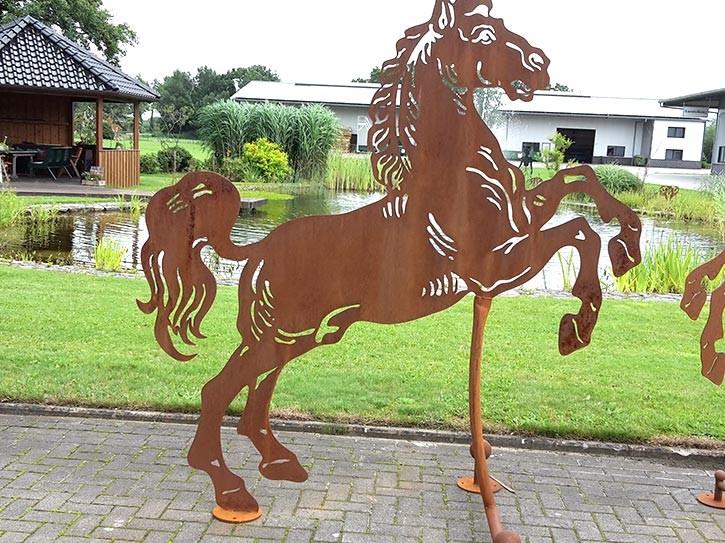 """Pferd """"Aaron"""" mittelgroß - Rostig"""